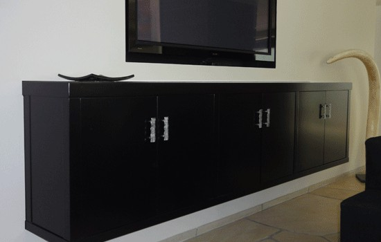 Contemporary look for flat screen TV